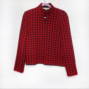 St. John Collection Houndstooth Knit Jacket